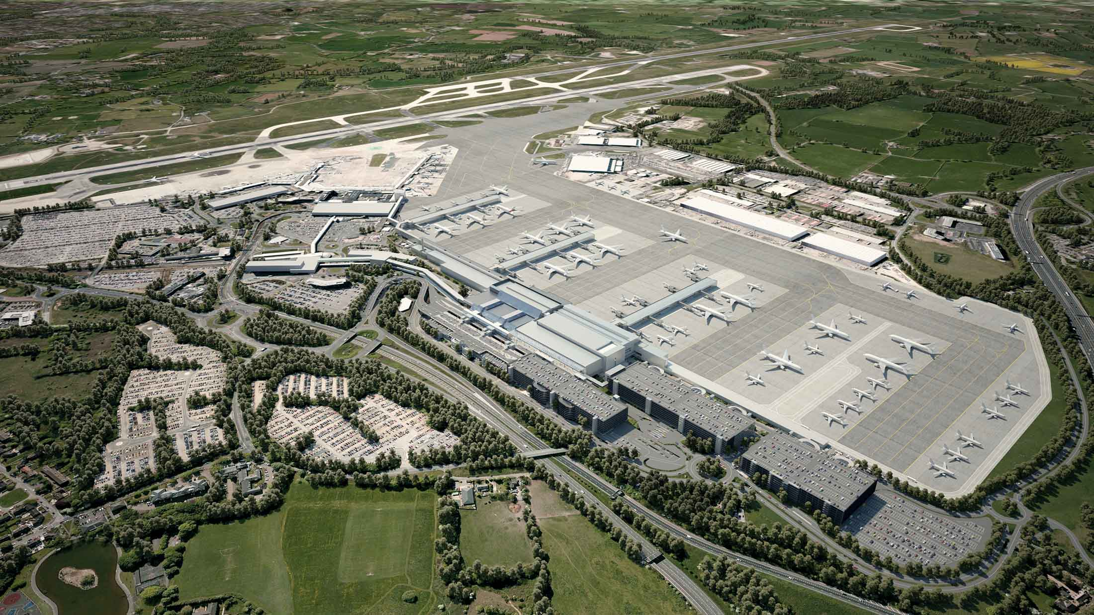 Terminal 2, Manchester Airport, UK – Digital Alchemy